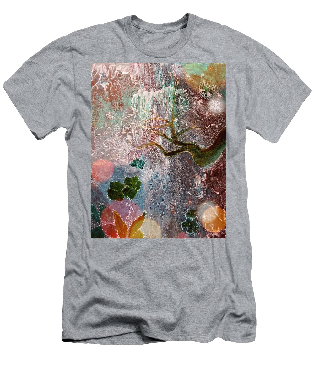 Falls T-Shirt featuring the painting The Falls by Valerie Josi