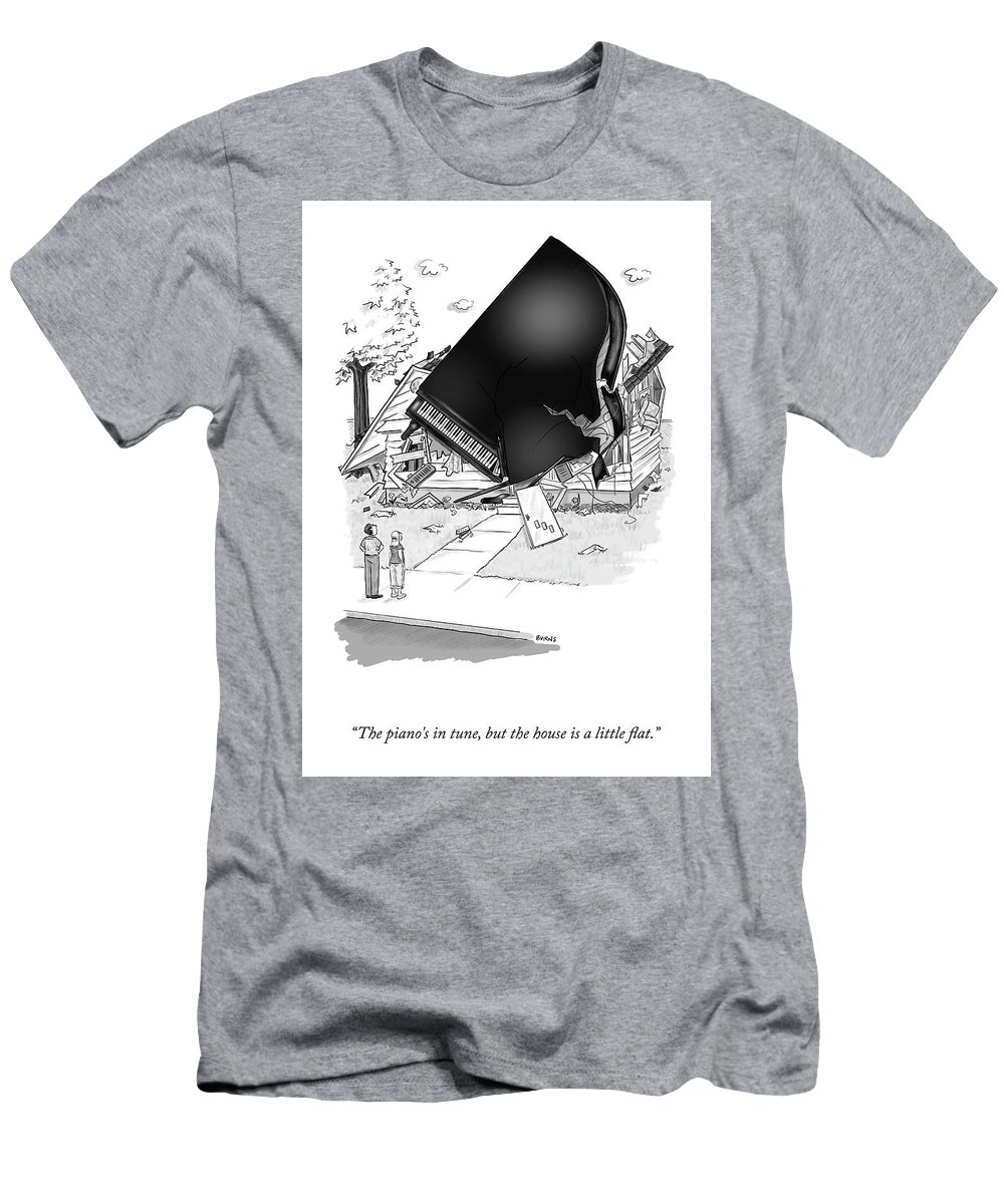 Cctk T-Shirt featuring the drawing The Piano's In Tune by Teresa Burns Parkhurst