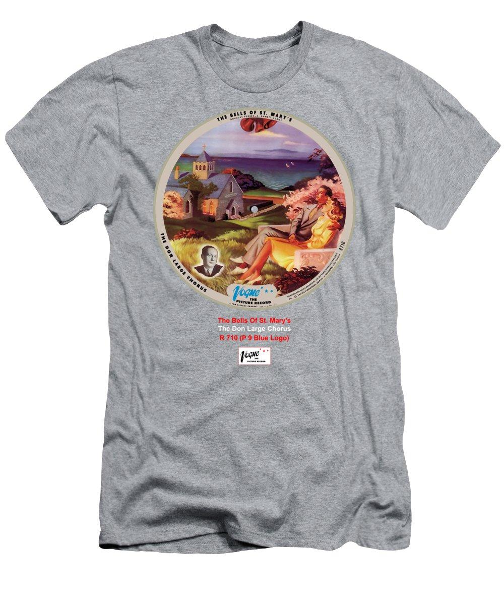 Vogue Picture Record T-Shirt featuring the digital art Vogue Record Art - R 710 - P 9, Yellow Logo by John Robert Beck