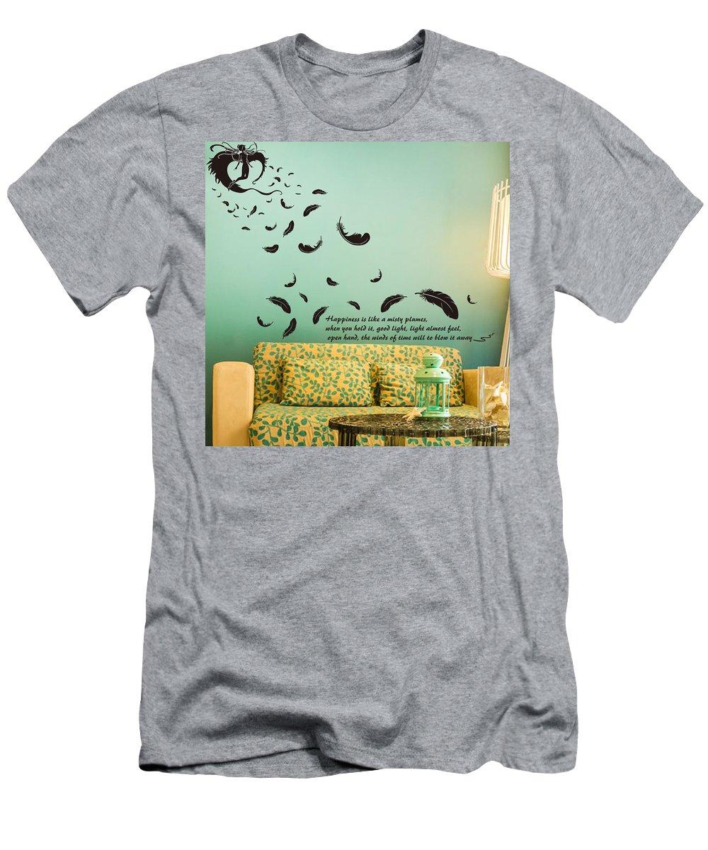 T-Shirt featuring the digital art Wall art by Wild
