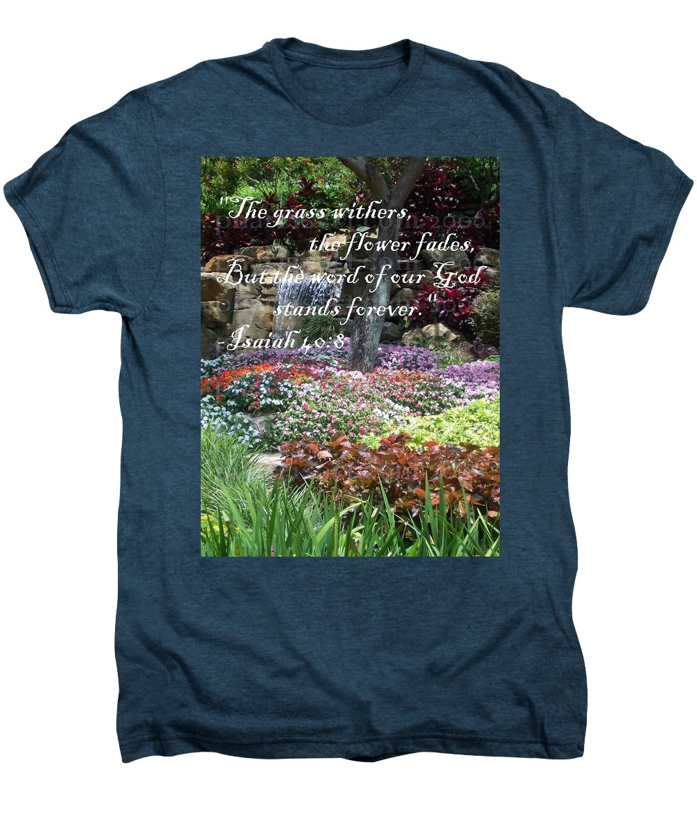 Inspirational Men's Premium T-Shirt featuring the photograph Stands Forever by Pharris Art