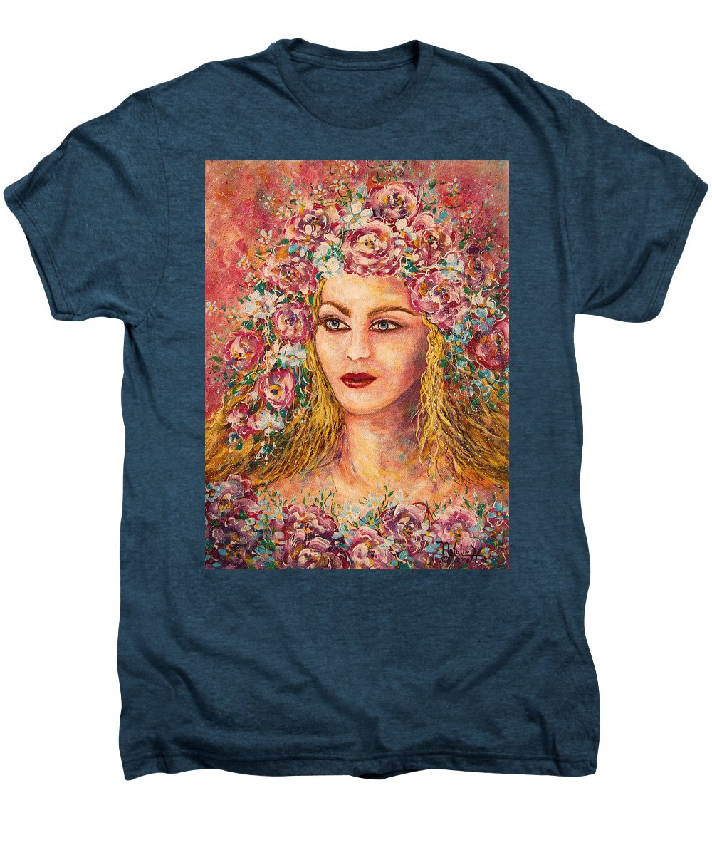 Goddess Men's Premium T-Shirt featuring the painting Good Fortune Goddess by Natalie Holland