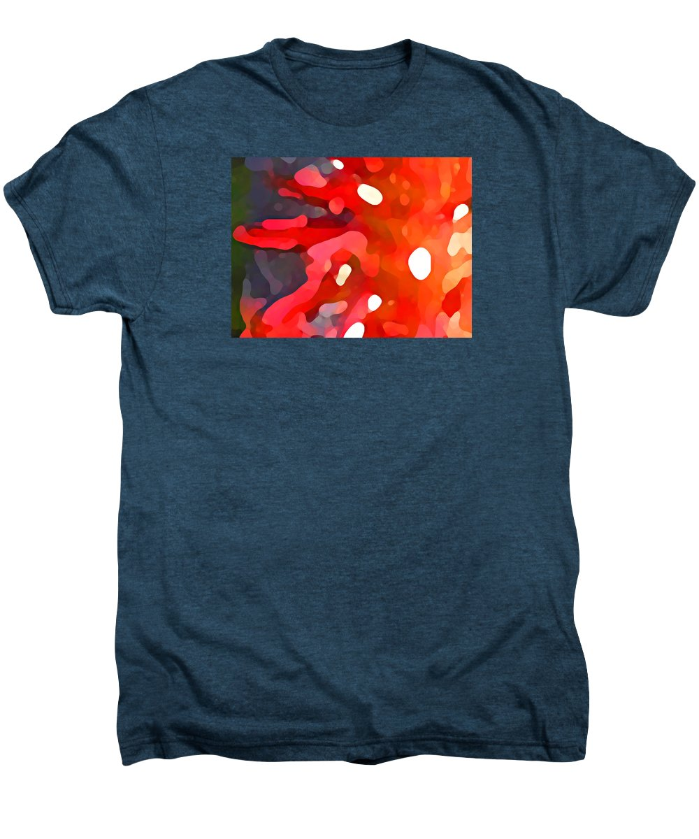 Bold Men's Premium T-Shirt featuring the painting Abstract Red Sun by Amy Vangsgard