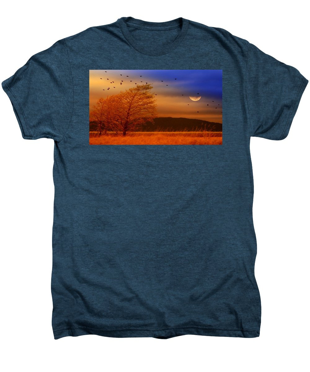 Landscape Men's Premium T-Shirt featuring the photograph Against The Wind by Holly Kempe