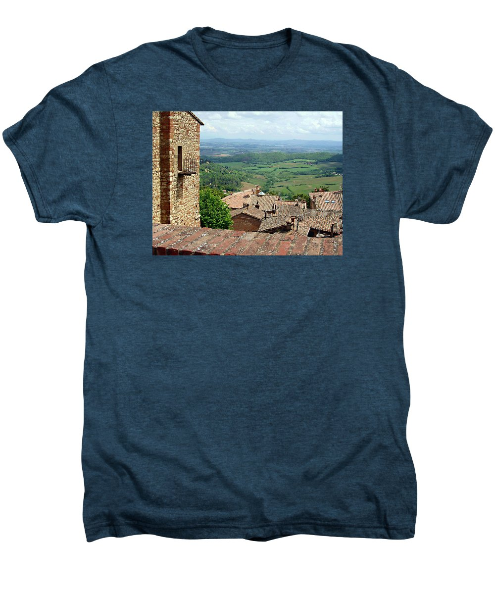 Beyond The Rooftops Men's Premium T-Shirt featuring the photograph Beyond The Rooftops 1 by Ellen Henneke