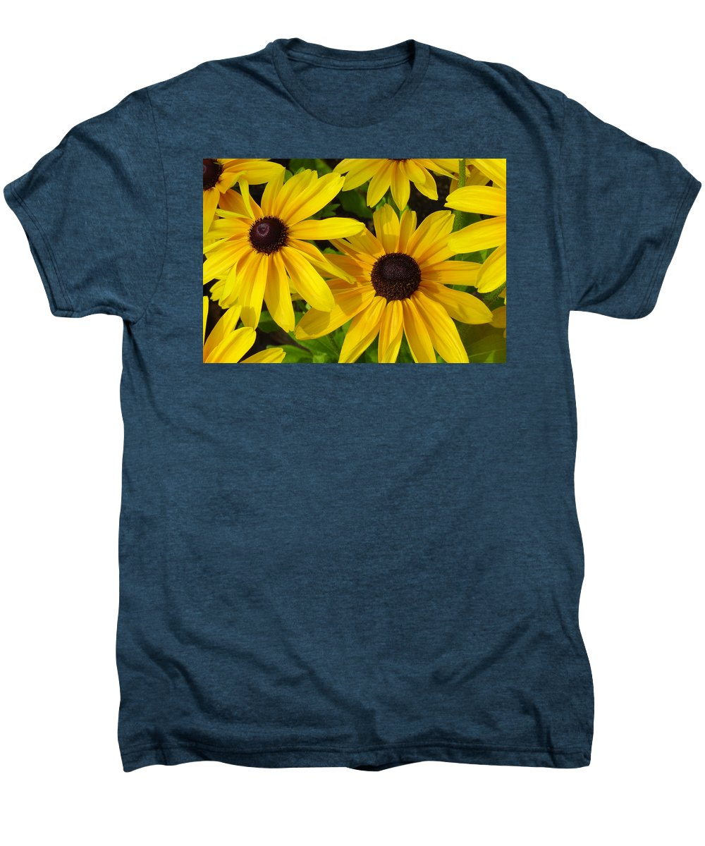 Black Eyed Susan Men's Premium T-Shirt featuring the photograph Black Eyed Susans by Suzanne Gaff