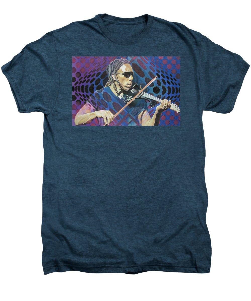 Boyd Tinsley Men's Premium T-Shirt featuring the drawing Boyd Tinsley Pop-op Series by Joshua Morton