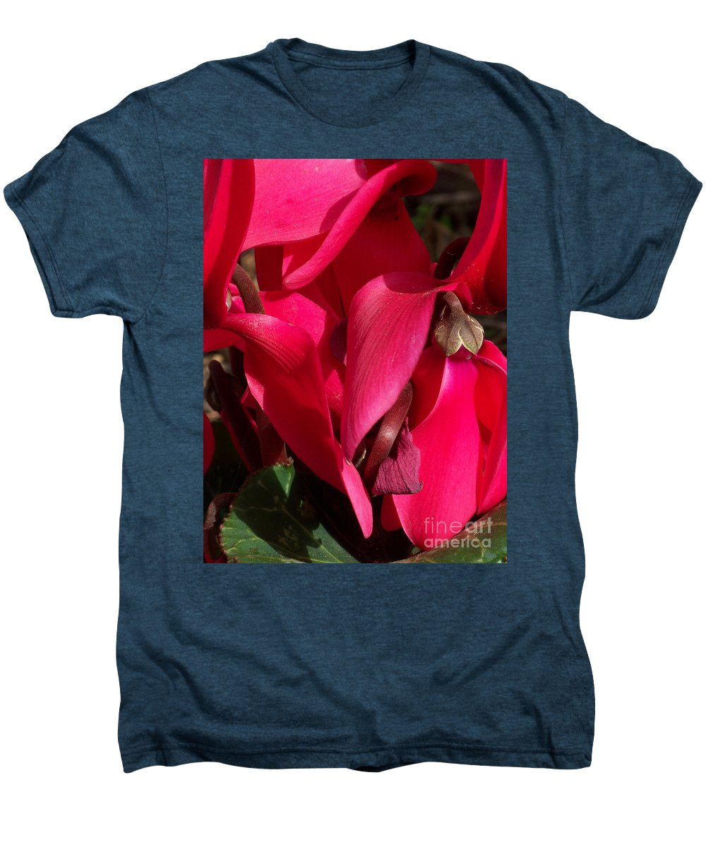 Flowers Men's Premium T-Shirt featuring the photograph Cyclamen by Kathy McClure