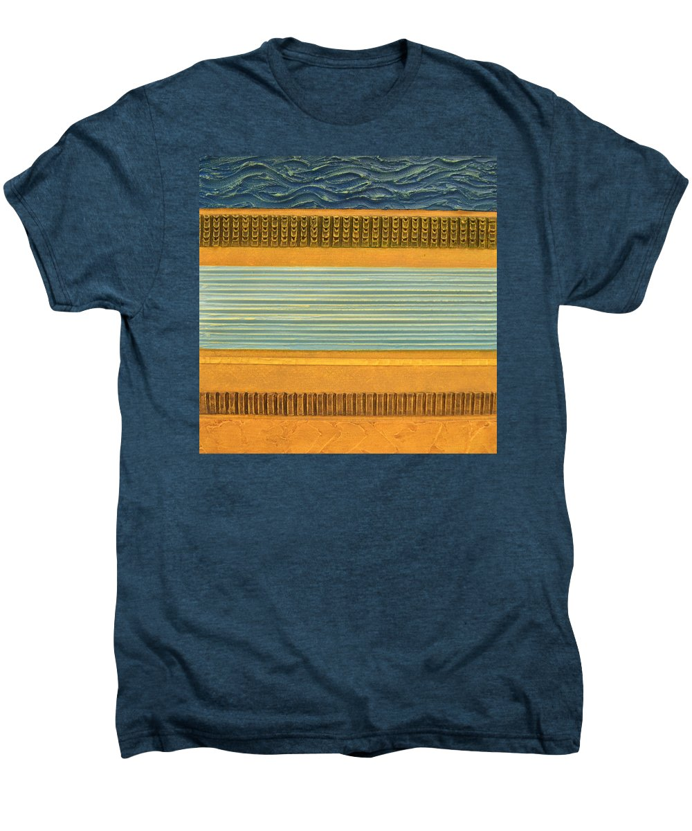 Abstract Men's Premium T-Shirt featuring the painting Earth Layers Abstract Ll by Michelle Calkins