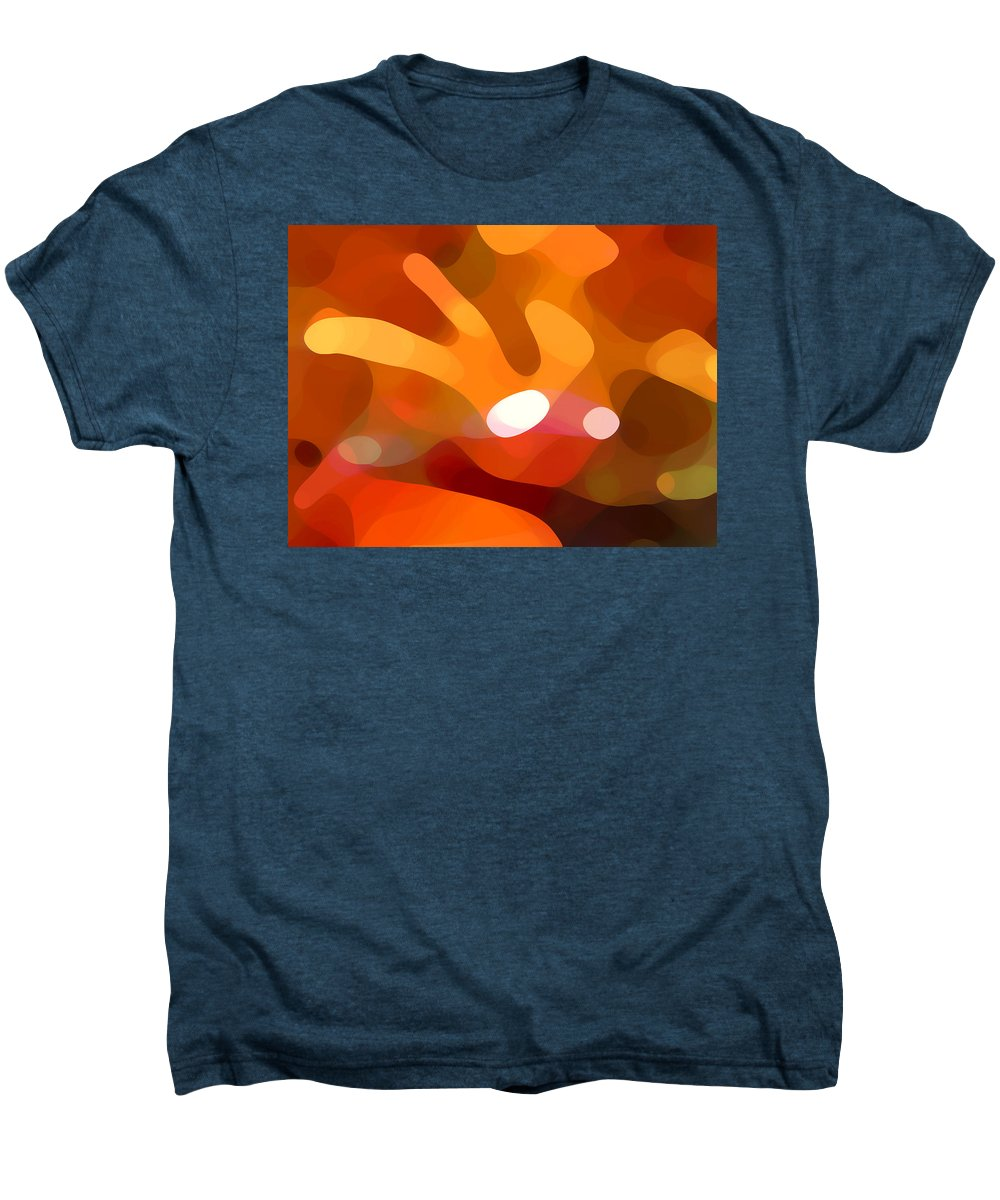 Abstract Men's Premium T-Shirt featuring the painting Fall Day by Amy Vangsgard