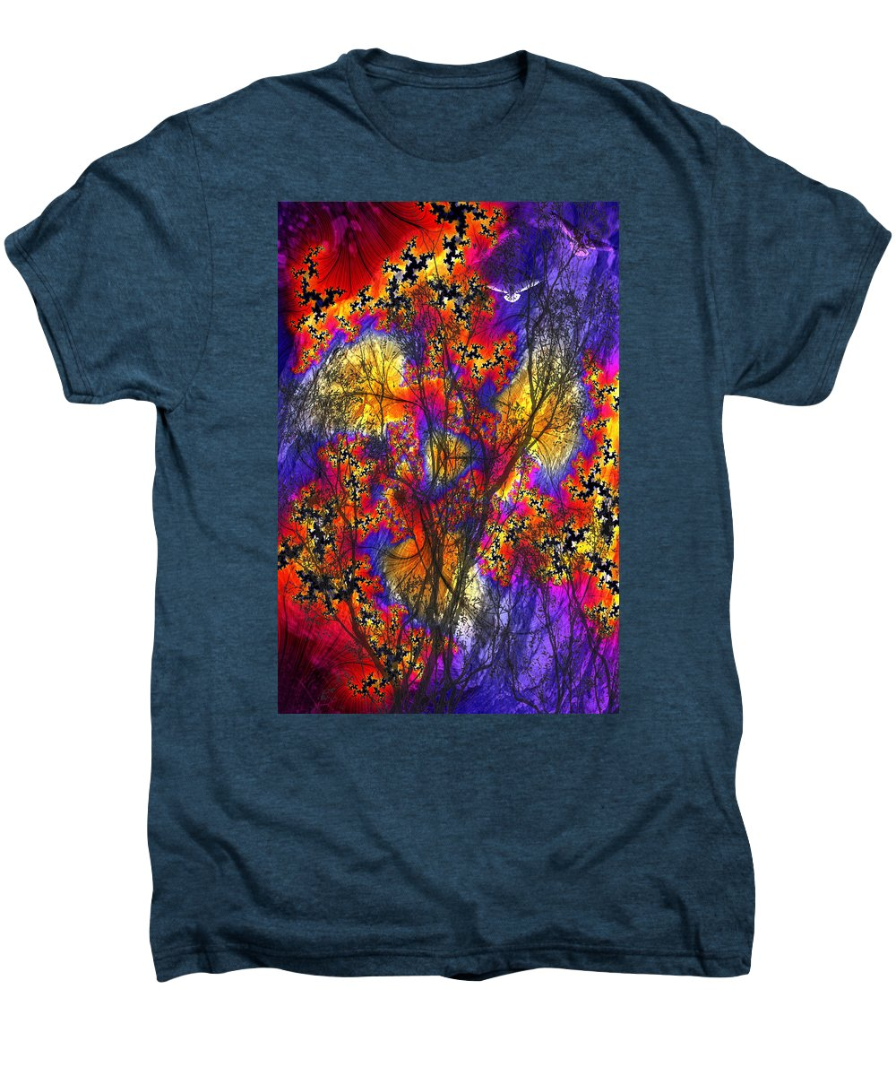 Forest Fire Men's Premium T-Shirt featuring the digital art Forest Fire by Lisa Yount