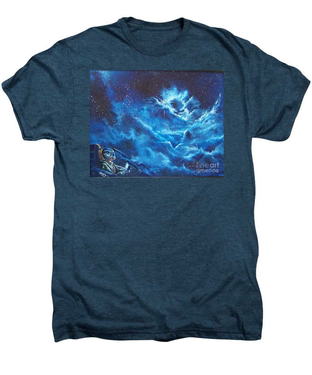 Astro Men's Premium T-Shirt featuring the painting Heavens Gate by Murphy Elliott