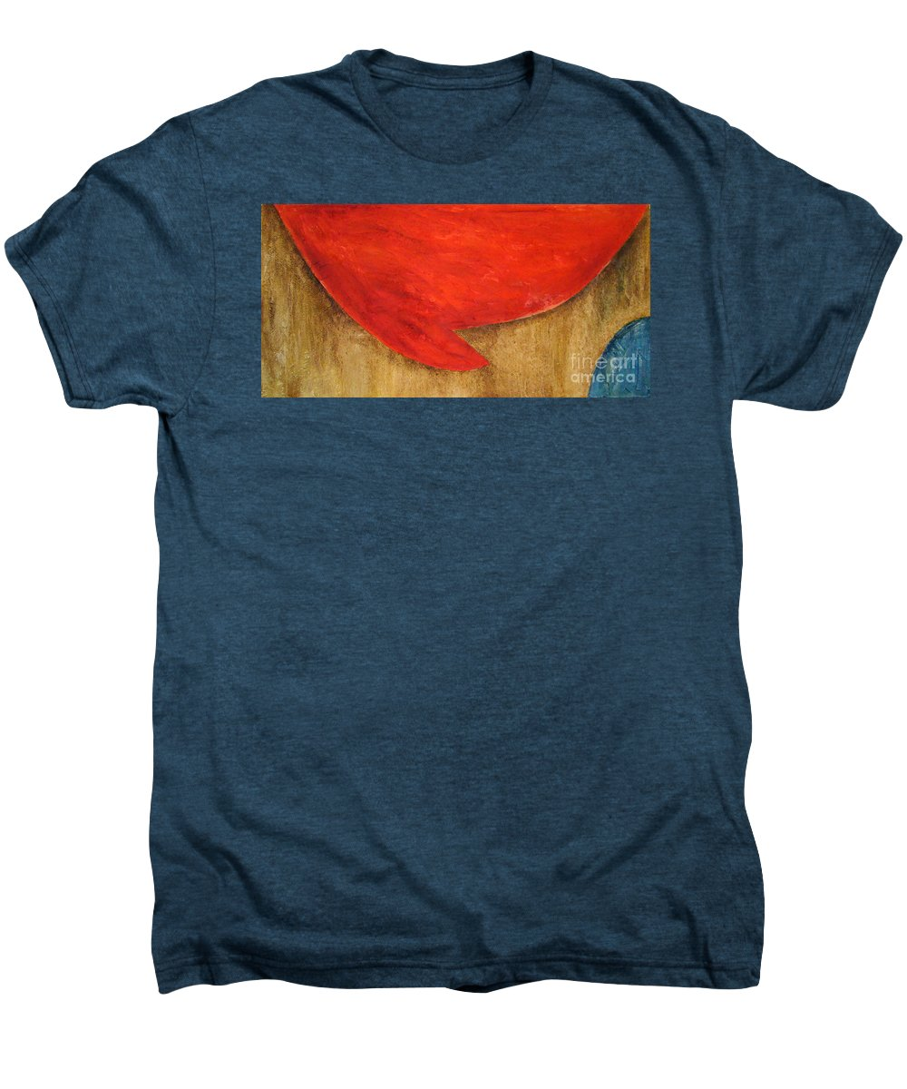 Abstract Men's Premium T-Shirt featuring the painting Hot Spot by Silvana Abel