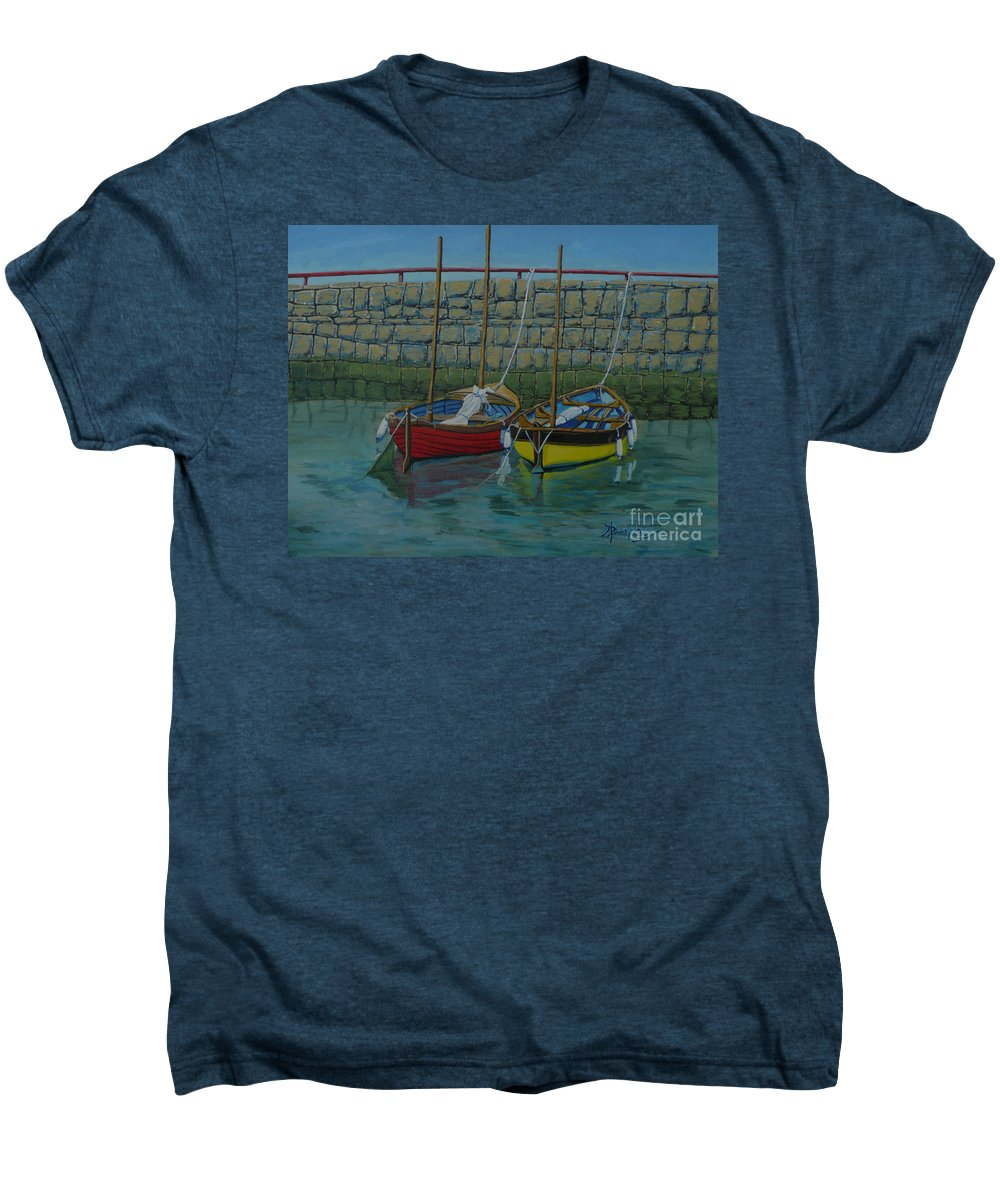 Rock Men's Premium T-Shirt featuring the painting Low Tide by Anthony Dunphy