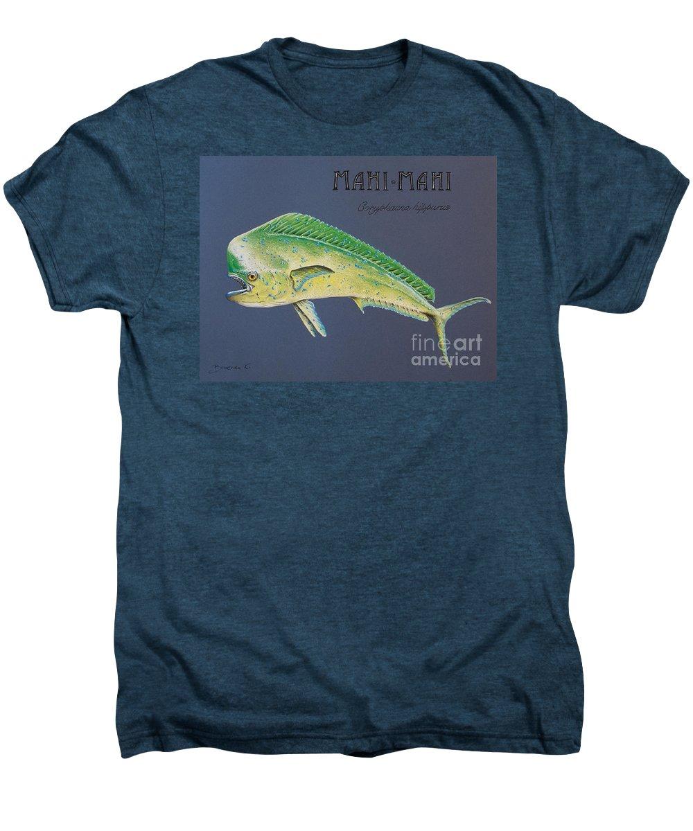 Mahi Mahi Men's Premium T-Shirt featuring the pastel Mahi-mahi by Katharina Filus