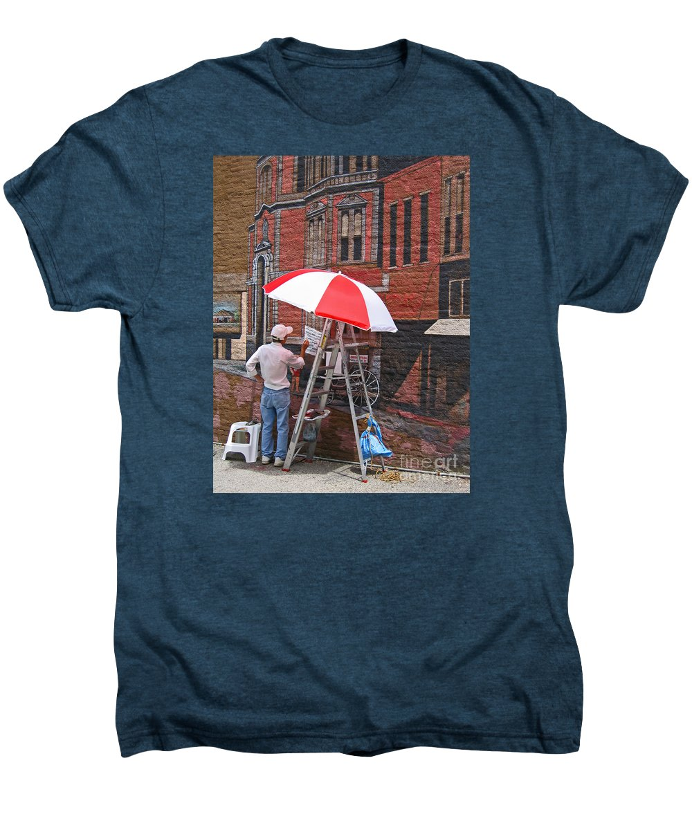 Artist Men's Premium T-Shirt featuring the photograph Painting The Past by Ann Horn