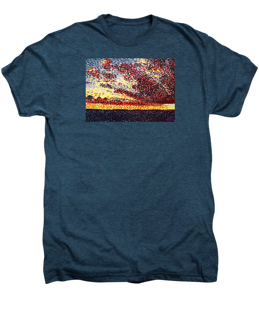 Plum Clouds Men's Premium T-Shirt featuring the painting Plum Clouds by Alan Hogan