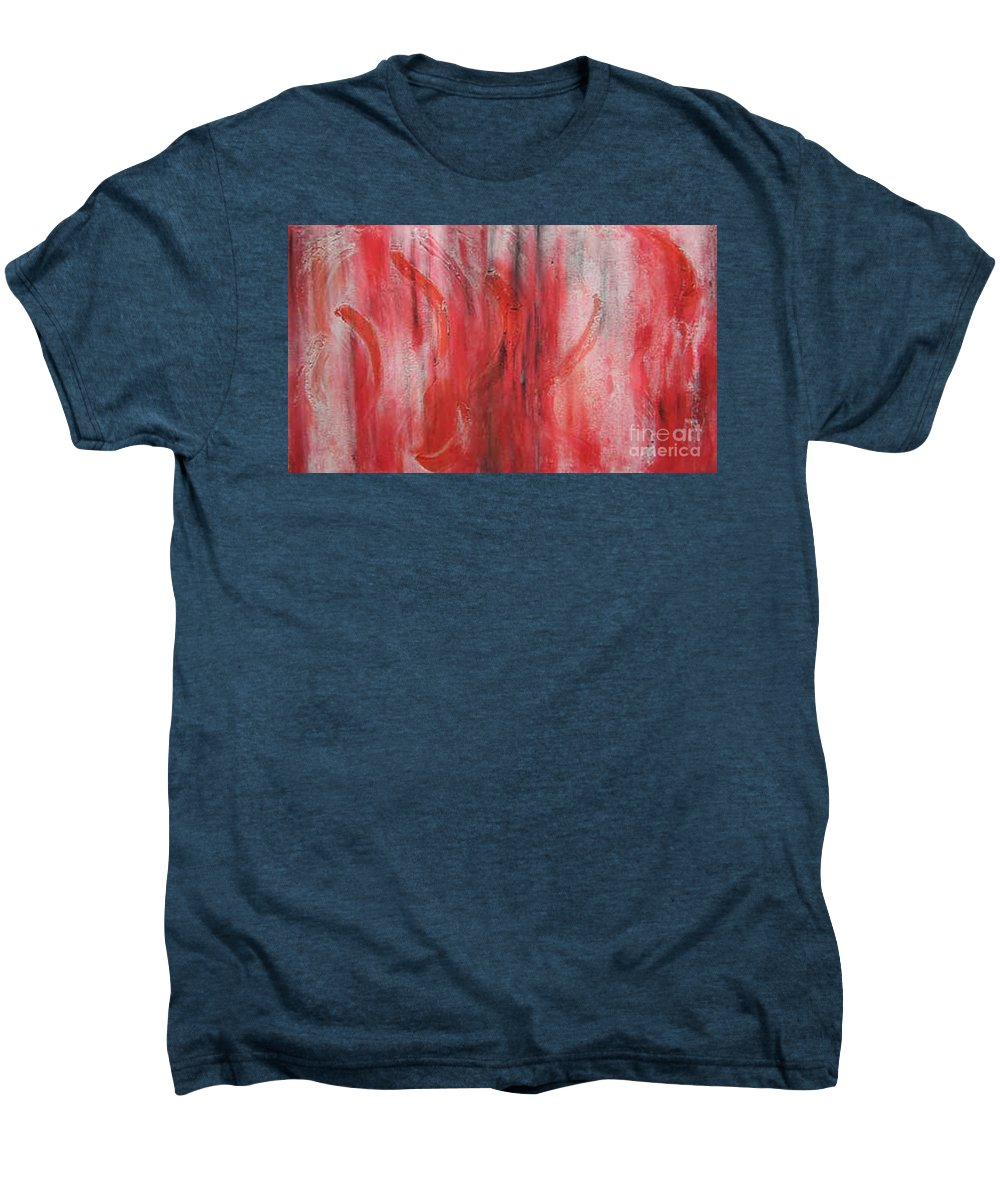 Modern Art Men's Premium T-Shirt featuring the painting Red Sea by Silvana Abel