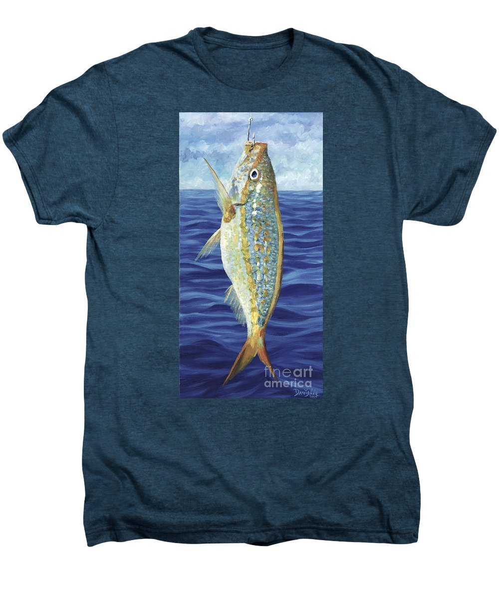 Snapper Men's Premium T-Shirt featuring the painting Yellowtail On The Menu by Danielle Perry