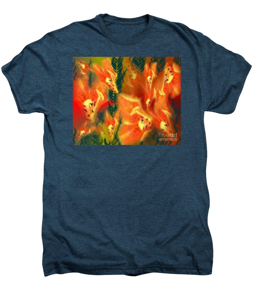 Florals Men's Premium T-Shirt featuring the digital art Symphonic Dance by Brenda L Spencer