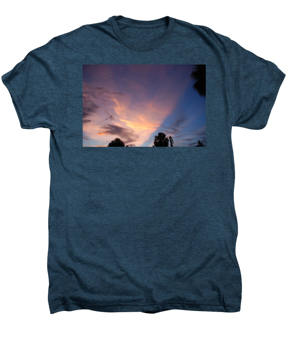 Sunset Men's Premium T-Shirt featuring the photograph Sunset At Pine Tree by Rob Hans
