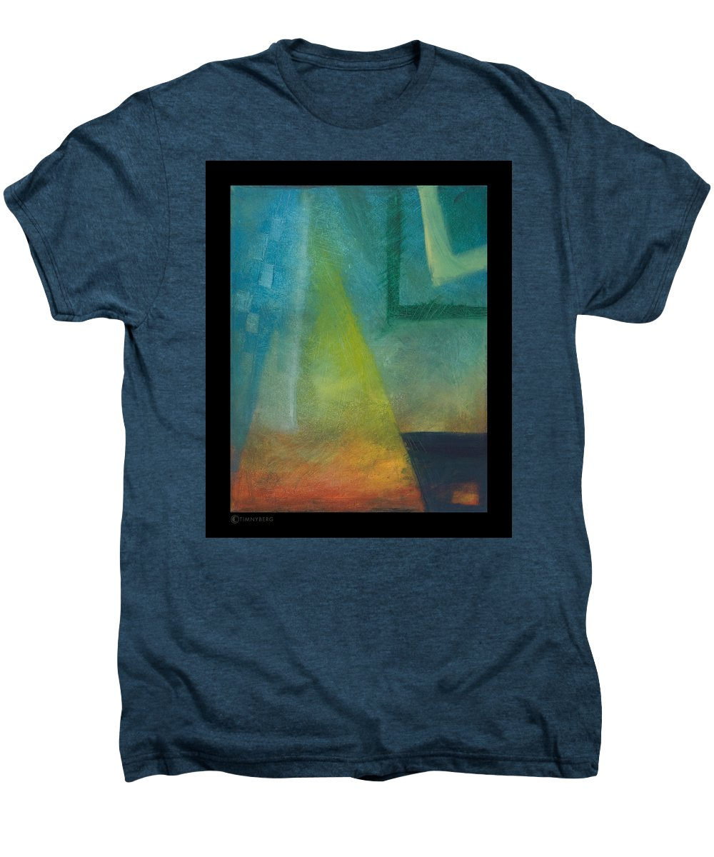Sunset Men's Premium T-Shirt featuring the painting Sunset Sail by Tim Nyberg