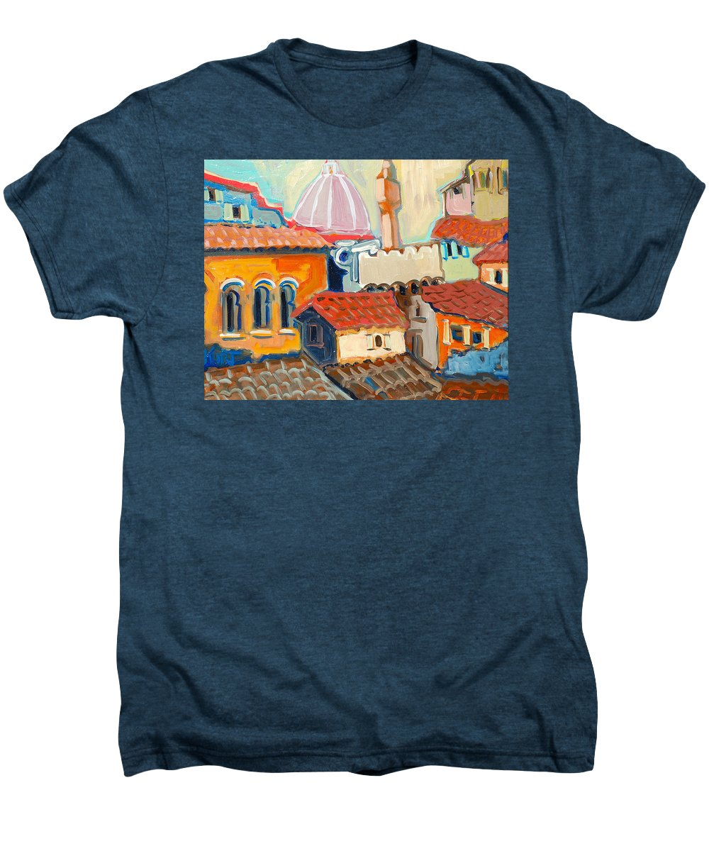 Italy Men's Premium T-Shirt featuring the painting Florence by Kurt Hausmann
