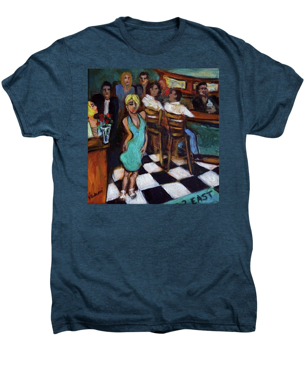 Restaurant Men's Premium T-Shirt featuring the painting 32 East by Valerie Vescovi