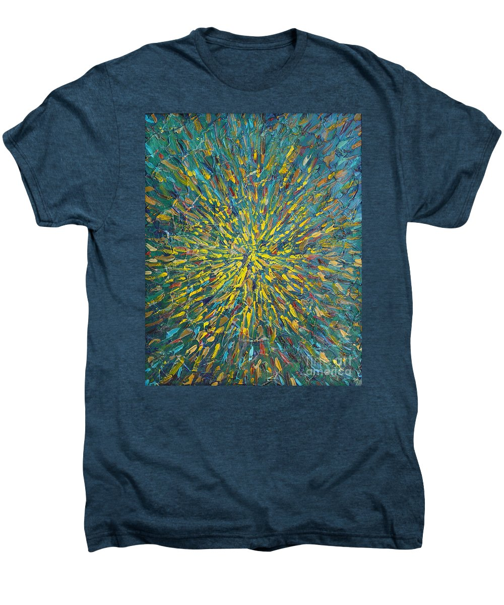 Abstract Men's Premium T-Shirt featuring the painting Untitled by Dean Triolo