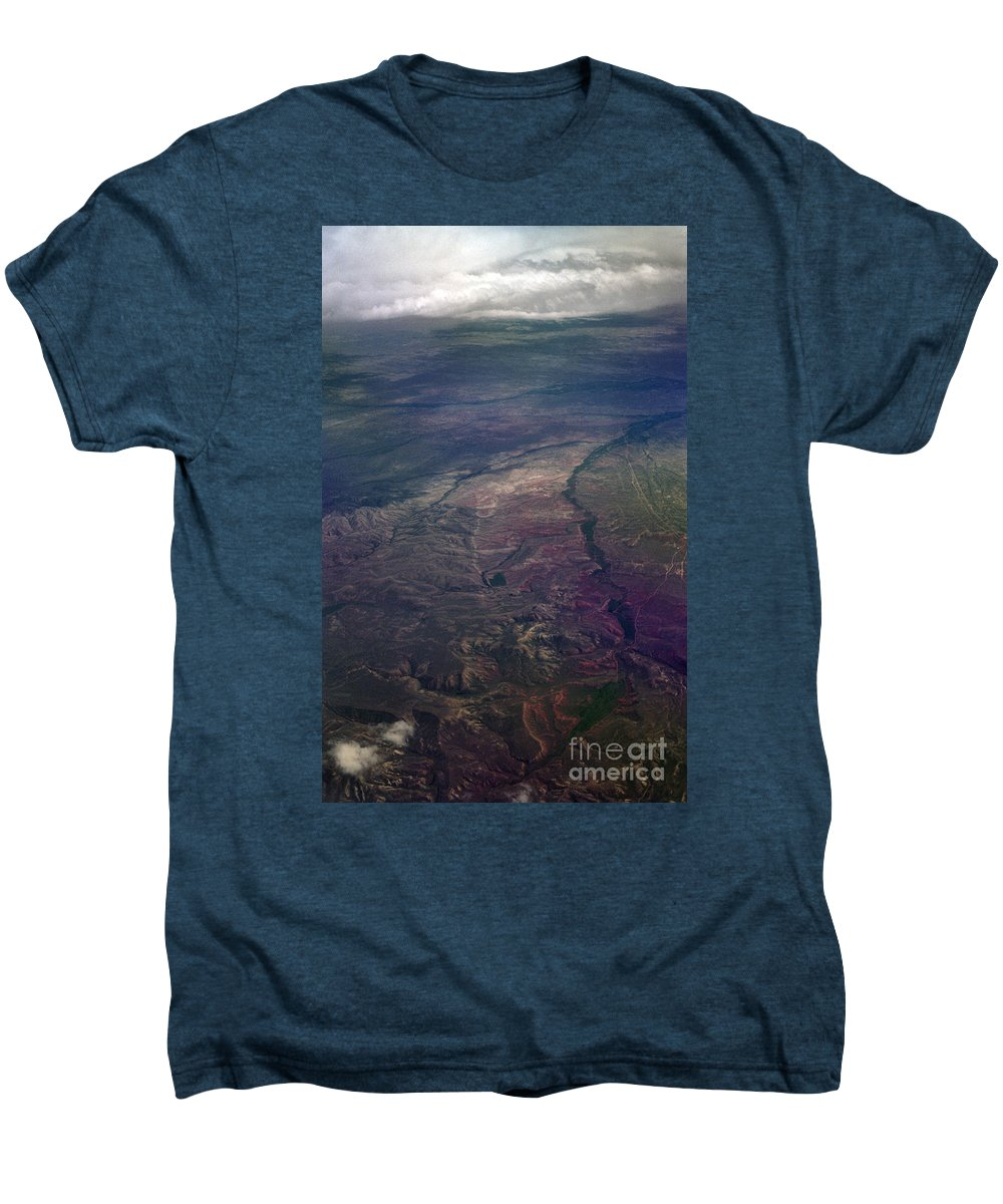 Aerial Photography Men's Premium T-Shirt featuring the photograph A Midwestern Landscape by Richard Rizzo