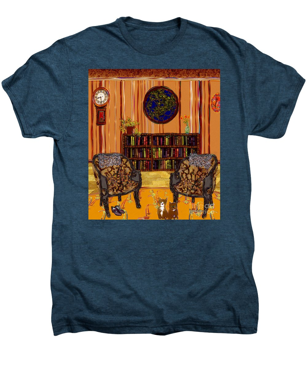 Folk Art Men's Premium T-Shirt featuring the painting A Victorian Horror by RC DeWinter
