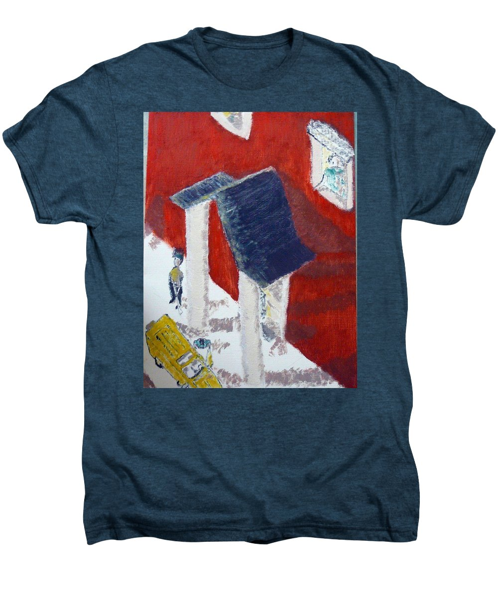 Social Realiism Men's Premium T-Shirt featuring the painting Accessories by R B