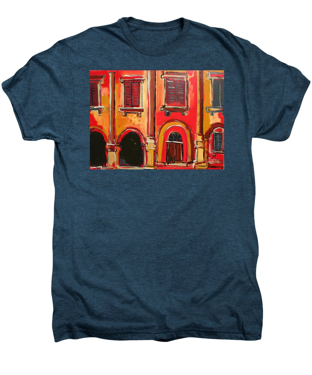 Tuscany Men's Premium T-Shirt featuring the painting Arco Di Firenze by Kurt Hausmann