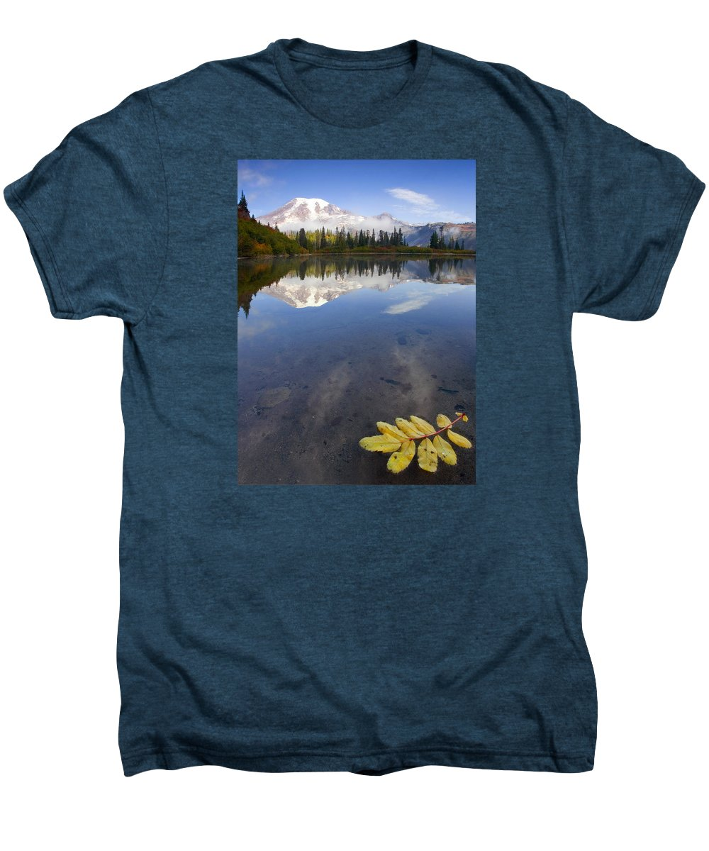 Rainier Men's Premium T-Shirt featuring the photograph Autumn Suspended by Mike Dawson