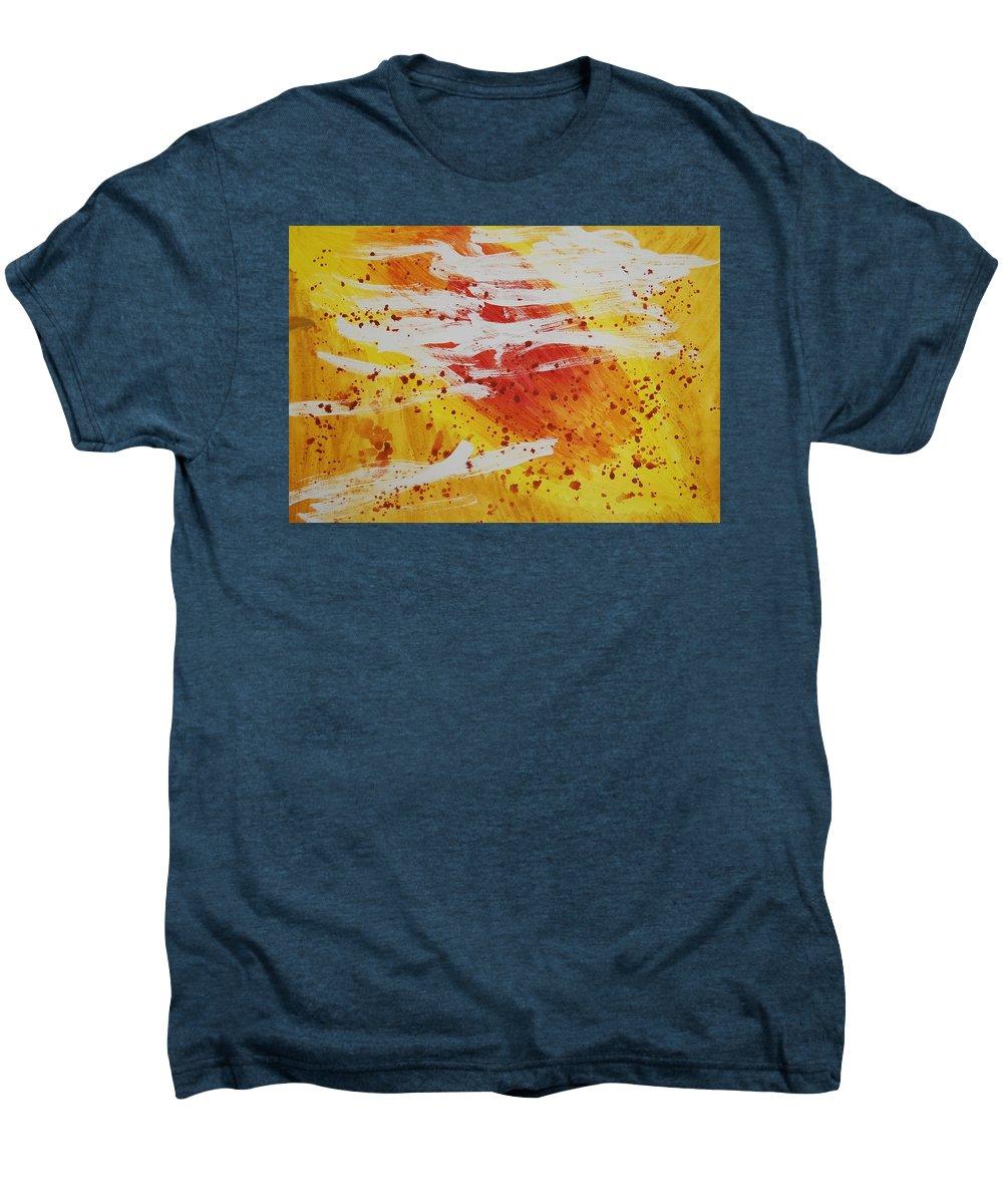 Abstract Men's Premium T-Shirt featuring the painting Bailando En El Sol by Lauren Luna