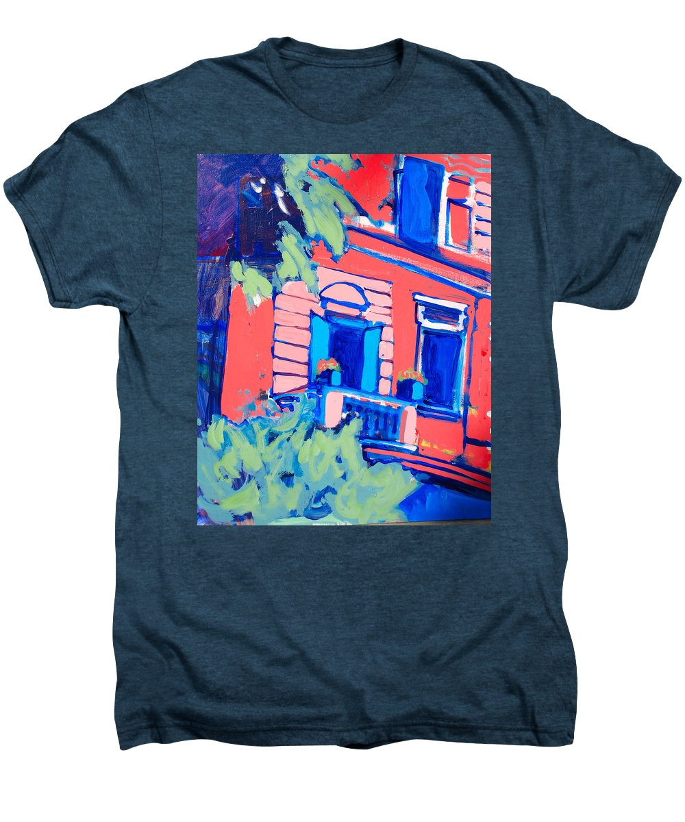 Balcony Men's Premium T-Shirt featuring the painting Balcone by Kurt Hausmann