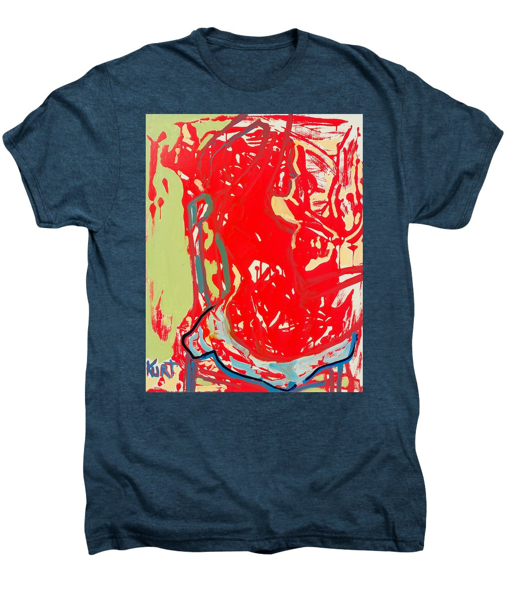 Nude Men's Premium T-Shirt featuring the painting Blue Chair by Kurt Hausmann