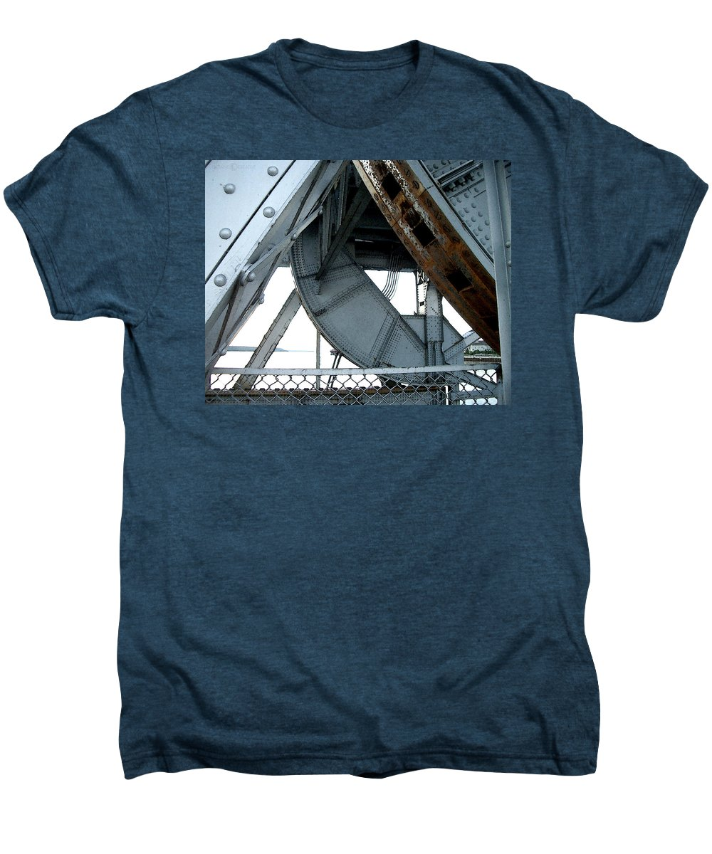 Steel Men's Premium T-Shirt featuring the photograph Bridge Gears by Tim Nyberg