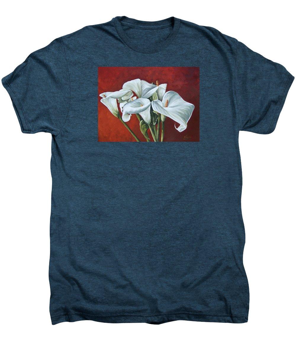 Calas Men's Premium T-Shirt featuring the painting Calas by Natalia Tejera