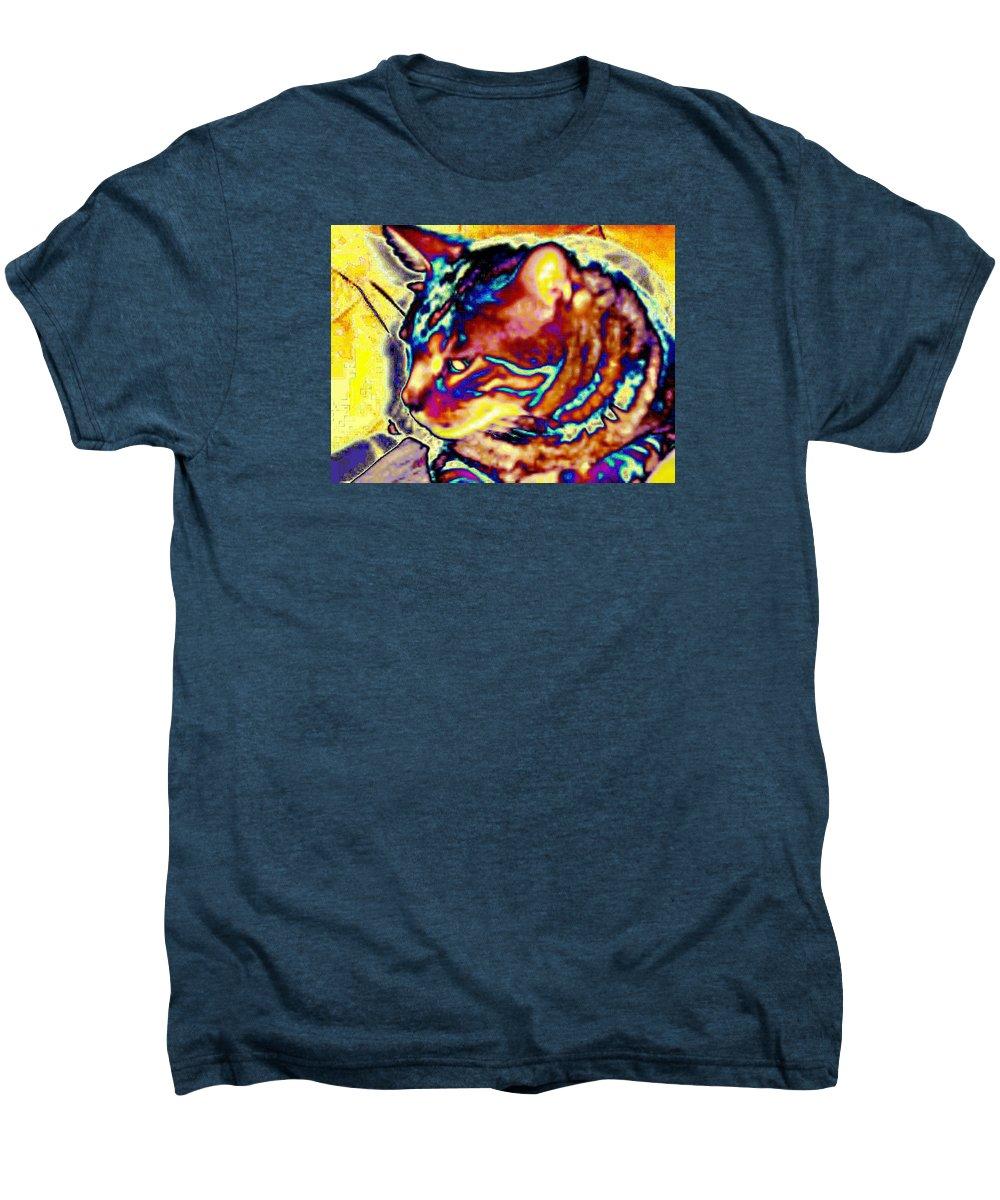 Cat Men's Premium T-Shirt featuring the photograph Cat Nap by Dawn Johansen