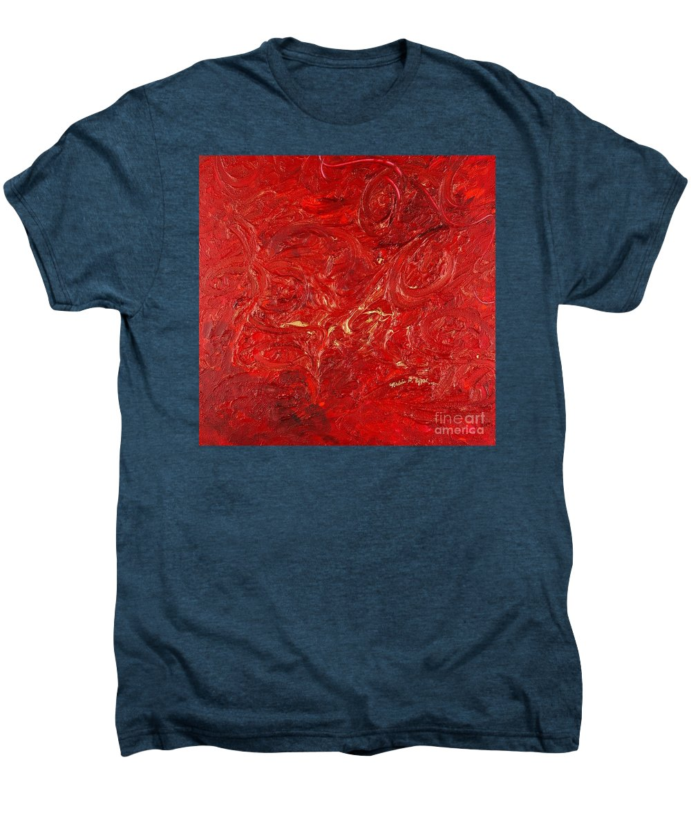 Red Men's Premium T-Shirt featuring the painting Celebration by Nadine Rippelmeyer