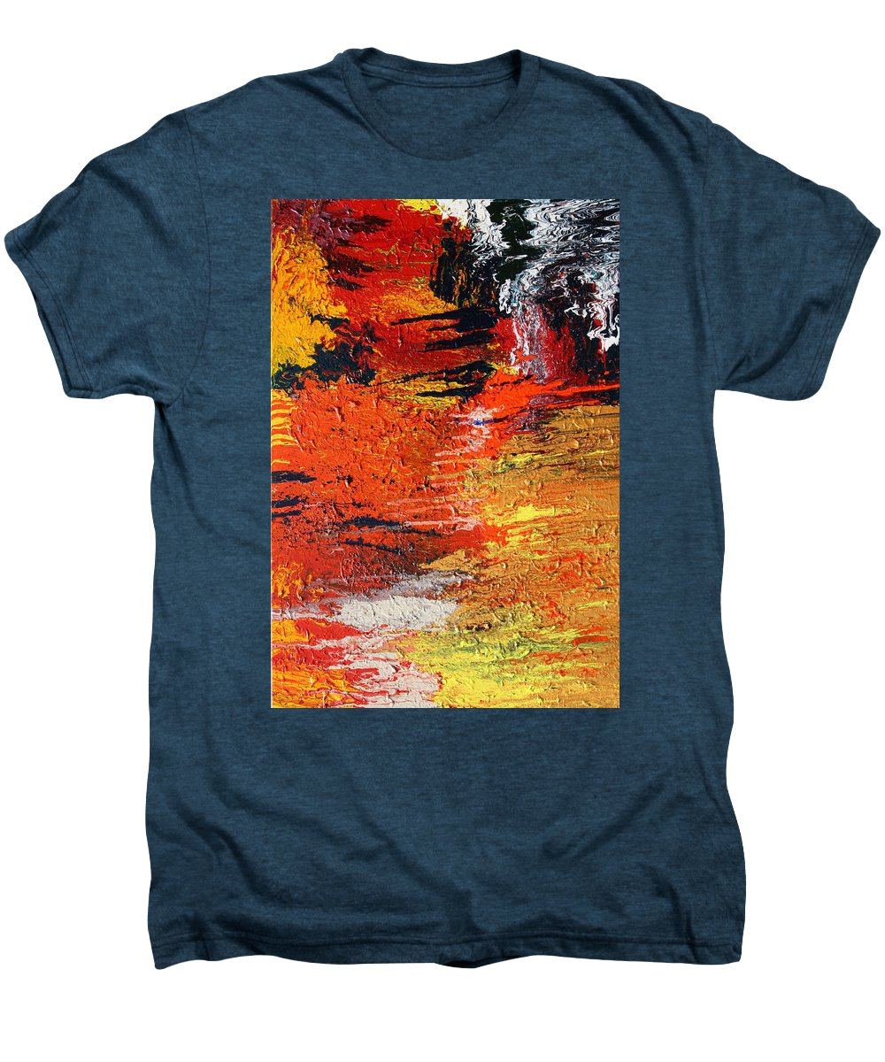 Fusionart Men's Premium T-Shirt featuring the painting Chasm by Ralph White
