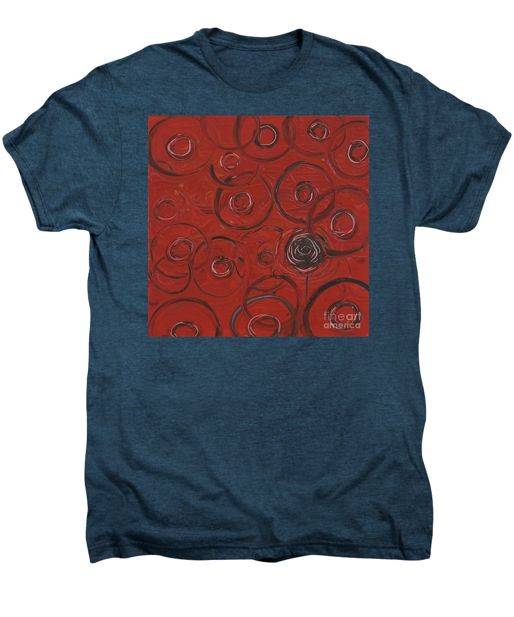 Red Men's Premium T-Shirt featuring the painting Choices In Red by Nadine Rippelmeyer