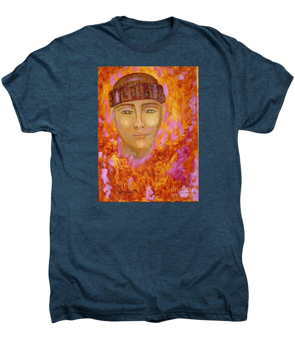 Portrait Men's Premium T-Shirt featuring the painting Choices by Laurie Morgan
