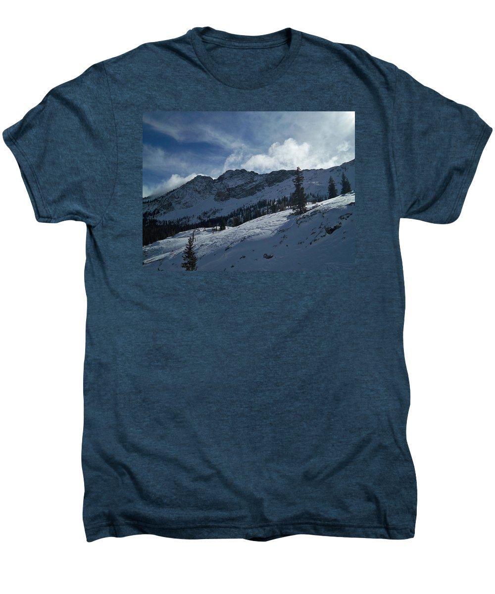 Ski Men's Premium T-Shirt featuring the photograph Devils Castle Morning Light by Michael Cuozzo