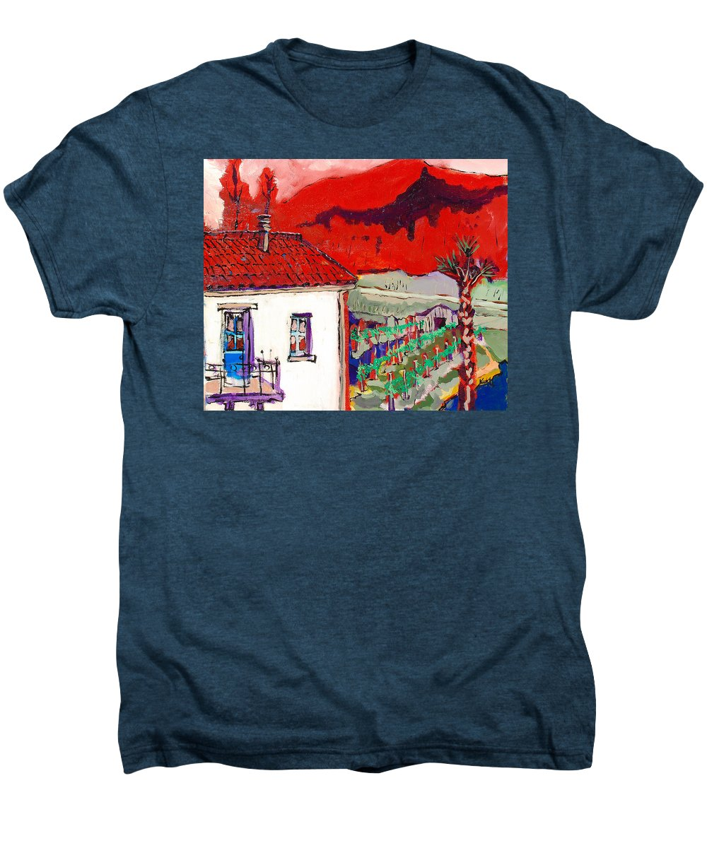 Men's Premium T-Shirt featuring the painting Enrico's View by Kurt Hausmann