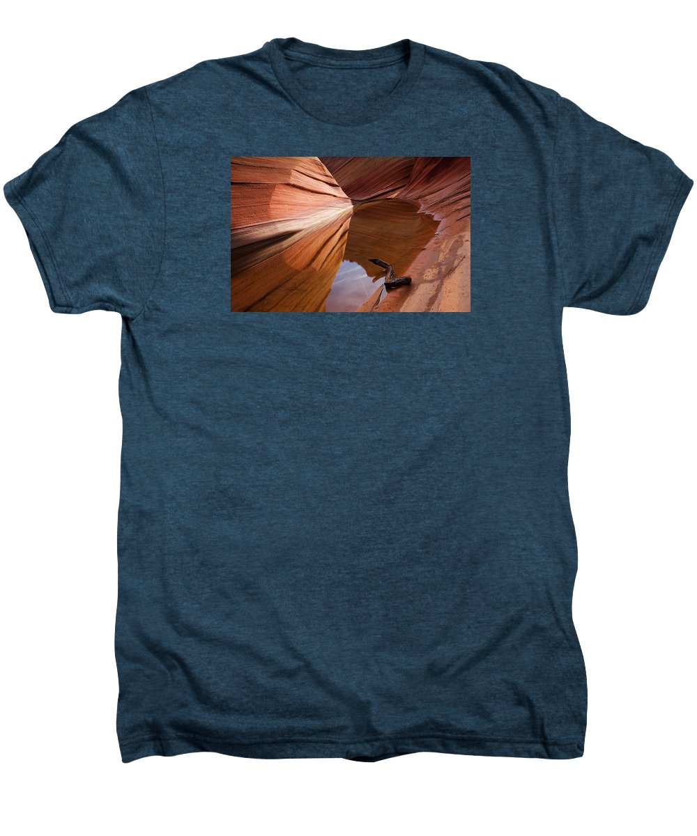 Wave Rock Men's Premium T-Shirt featuring the photograph Eye Of The Wave by Mike Dawson