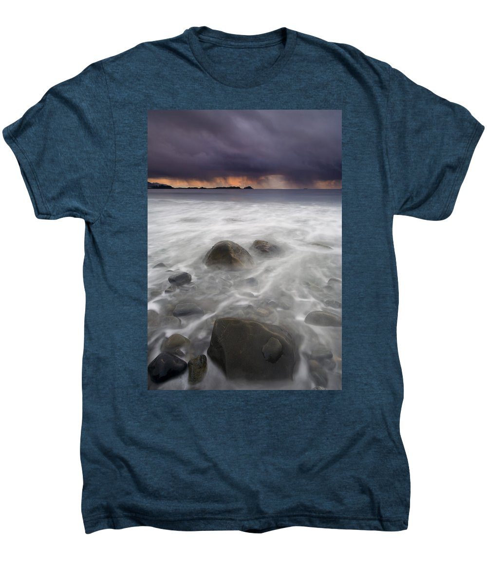 Storm Men's Premium T-Shirt featuring the photograph Fingers Of The Storm by Mike Dawson