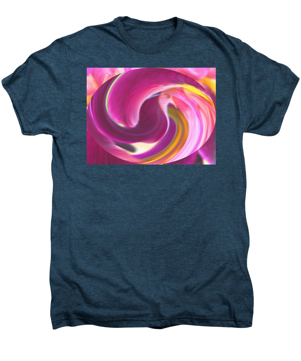 Purple Men's Premium T-Shirt featuring the digital art Fire In My Soul by Ian MacDonald