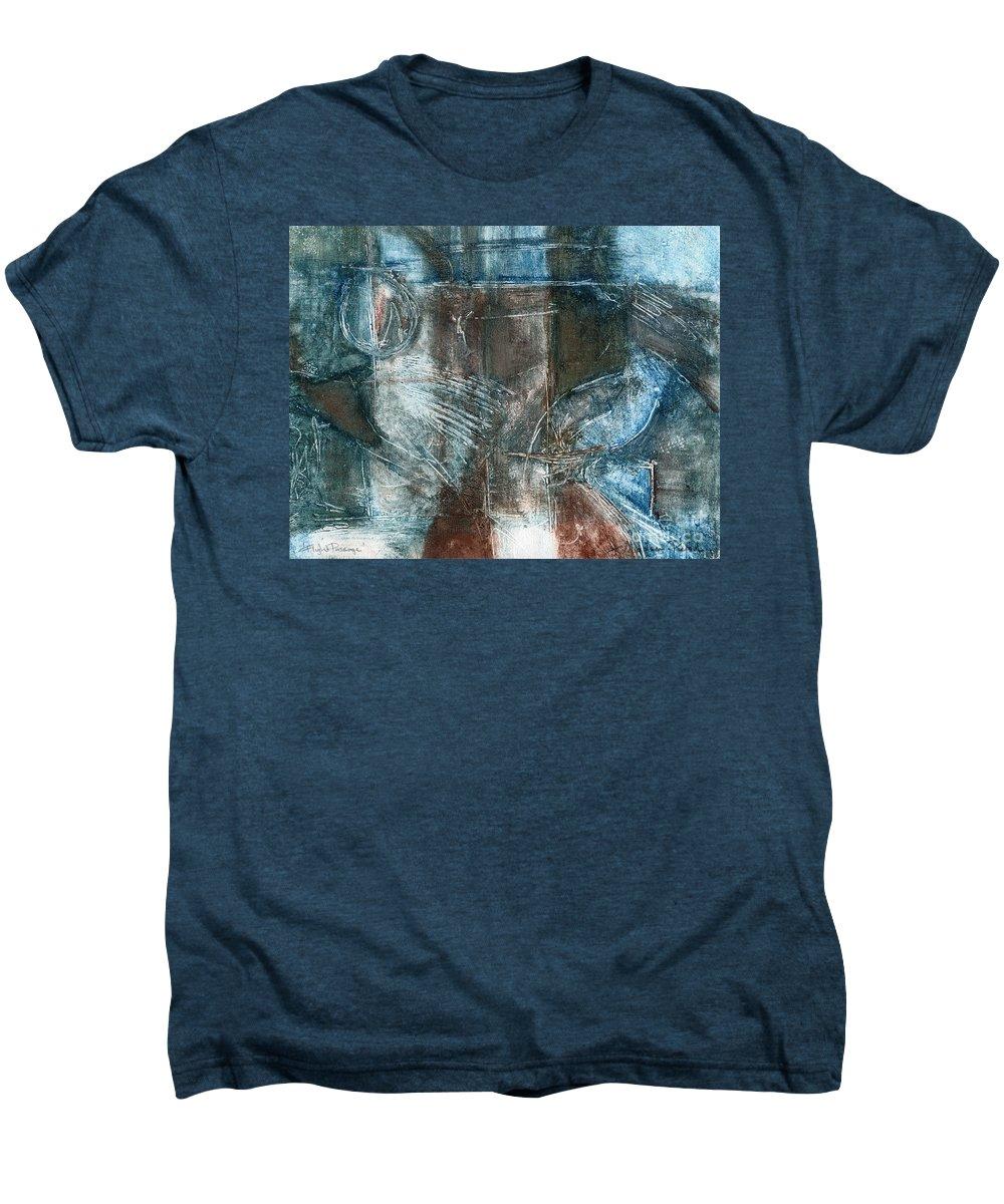 Flight Men's Premium T-Shirt featuring the drawing Flight Passage by Kerryn Madsen- Pietsch
